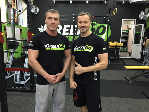 Футболки для клуба GreenGo Fitness